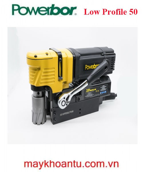 Máy khoan từ 50mm nằm ngang nhập khẩu Châu Âu hiệu Powerbor PB50 Low Profile